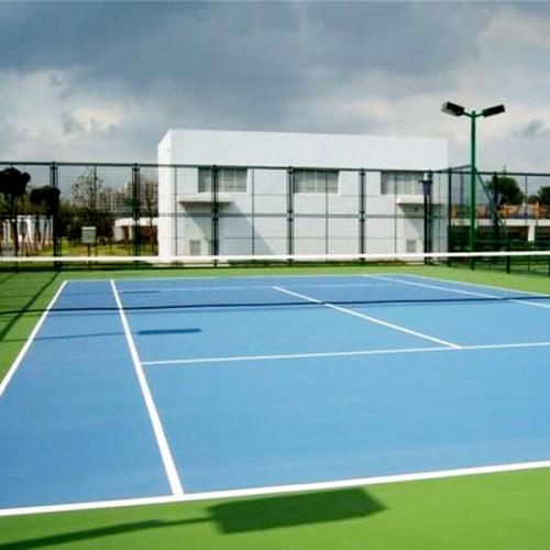 泸州兰苑小区硅PU网球场