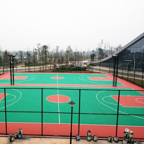 泸州生态体育公园弹性丙烯酸球场