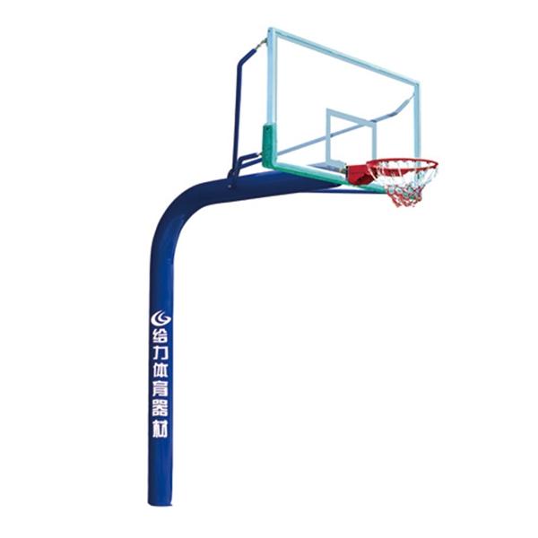 泸州GLA-015彩虹式自然弯埋地独柱篮球架