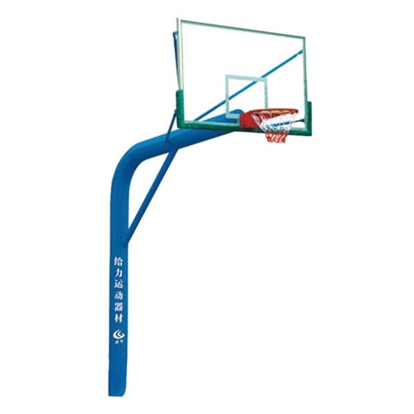 毕节GLA-016老款弯头埋地独柱篮球架