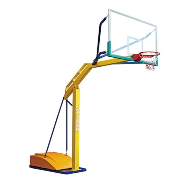 泸州GLA-022玻璃钢盖方管可移动篮球架